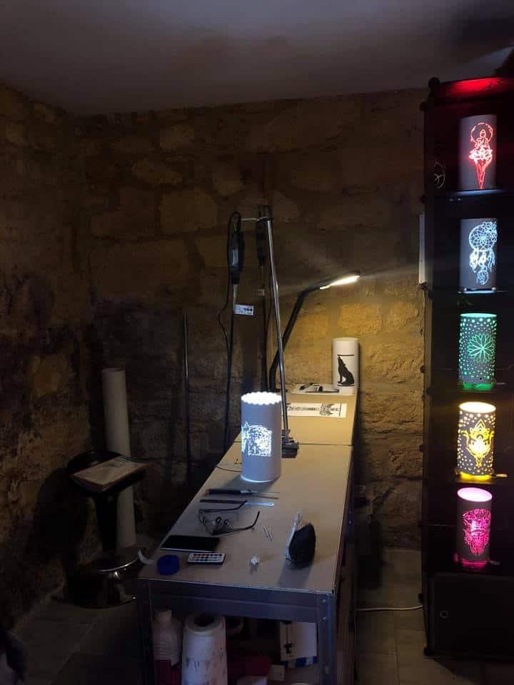 Fabrication Lampe Artisanale